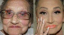 La nonna 80enne chiede alla nipote di truccarla, il risultato è senza parole.