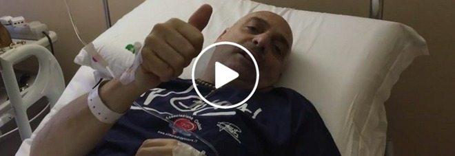 Paolo Brosio ricoverato in ospedale, video su facebook dopo l'operazione