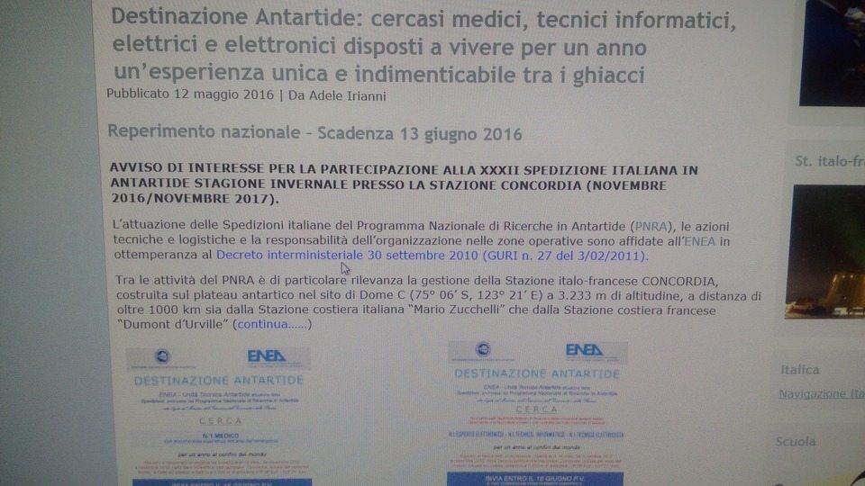 Offerte di lavoro in Antartide, 7mila € al mese.