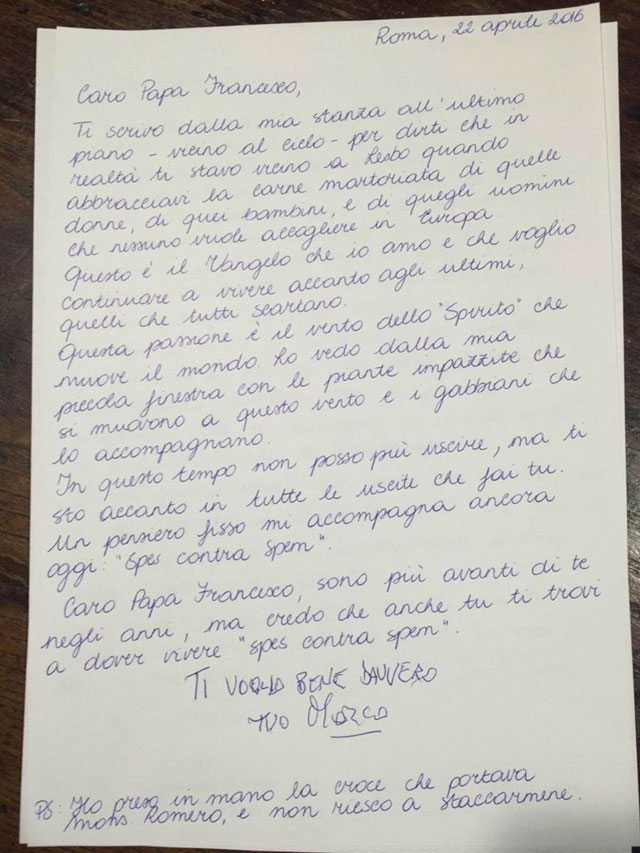 Pannella, lettera al Papa prima di morire