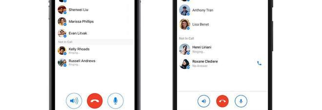 Messenger, arrivano le chiamate di gruppo, fino a 50 persone