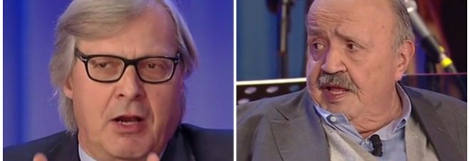 Sgarbi, provocazione choc in tv, Maurizio Costanzo è gay