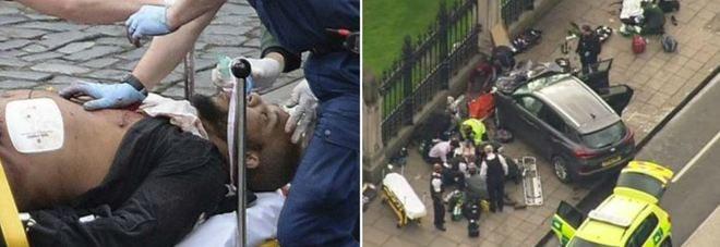 Londra, attacco terroristico, terrore e spari fuori dal parlamento, 20 feriti, 2  morti.
