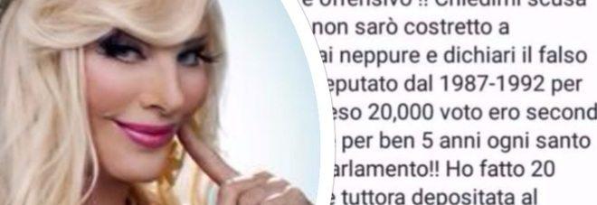 """Cicciolina: """"Prendo 2mila euro e me li merito, andavo tutti i giorni in parlamento"""","""