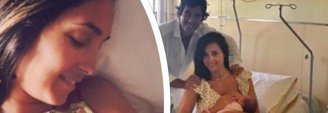 Caterina Balivo, in ospedale con prosciutto e pecorino, foto con Cora