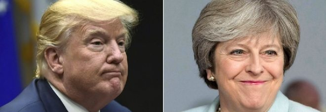 Trump risponde a Theresa May su twitter, ma sbaglia account