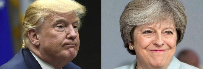 Trump risponde a Theresa May su twitter, ma sbaglia account