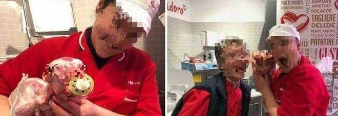 Carrefour: selfie dei dipendenti con agnelli macellati, foto choc!
