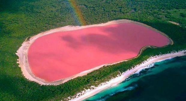 In Australia c'è lago completamente rosa, sembra uscito da una fiaba di fantasia.