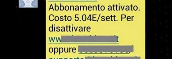 Truffa sul cellulare con servizio automatico in abbonamento
