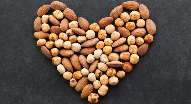 Noci, noccioline e mandorle proteggono il cuore