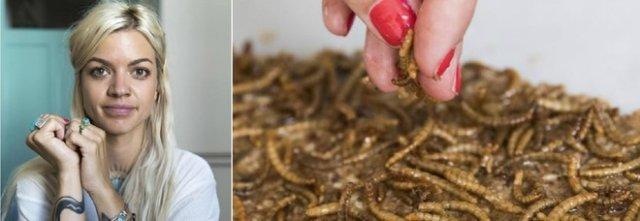 """Andrea Staudacher, la chef di insetti, """"contengono proteinte""""."""