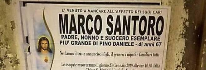 Il manifesto funebre di Napoli più curioso