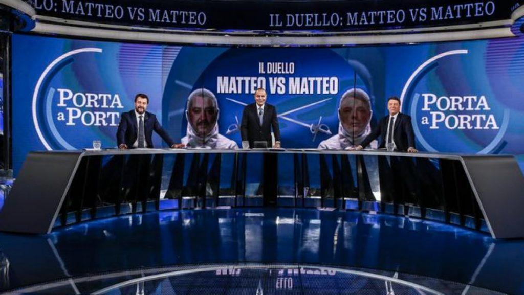 Porta a Porta, boom di ascolti per il duello Salvini-Renzi. La lettura televisiva: un po' showmen, un po' litiganti da reality - Il Fatto Quotidiano