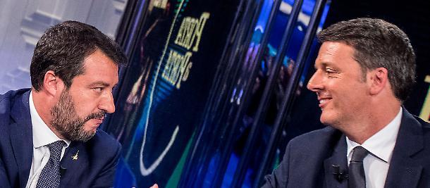 Matteo Salvini e Renzi, dietro le quinte di Porta a Porta e in Senato il patto: nel mirino Giuseppe Conte - Libero Quotidiano
