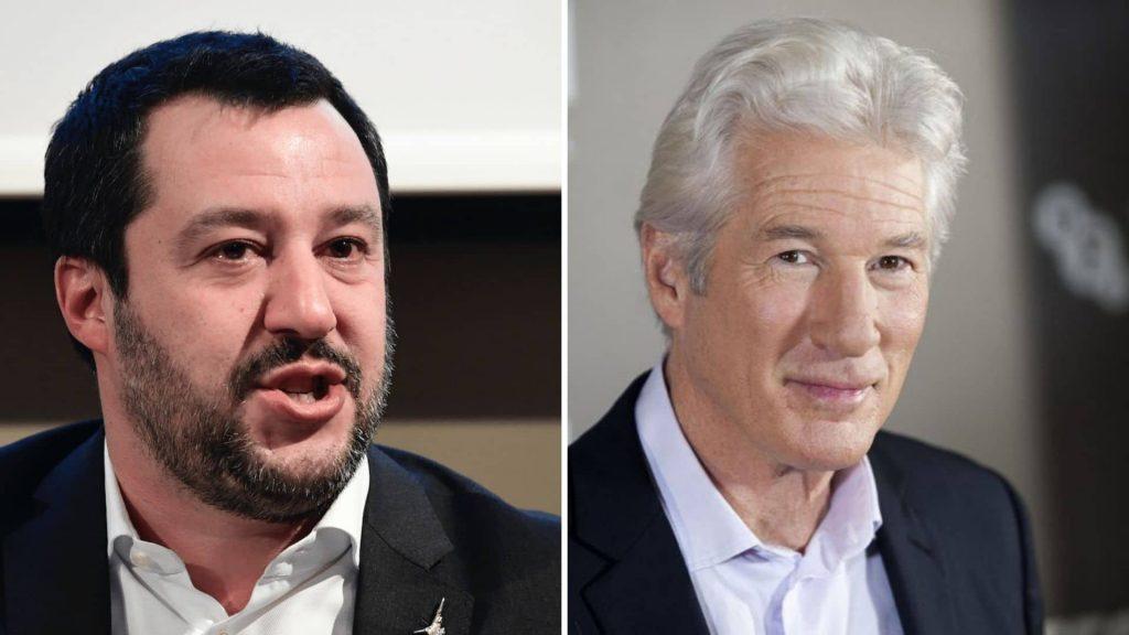 """Richard Gere: """"Salvini  venga sulle Ong a nutrire i migranti""""."""