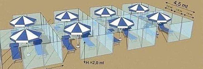Coronavirus, le regole per andare al mare quest'estate. Ombrelloni a tre metri di distanza, pareti in plexiglass e dispencer di disinfettante-LEGGO➟