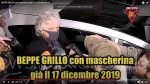 Perchè Beppe Grillo indossava la mascherina il 17 dicembre 2019? Sapeva qualcosa?➟