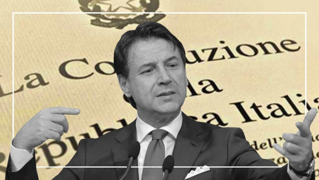 Conte e il governo italiano hanno violato l'articolo 77 della costituzione.➟